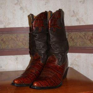 ARIAT 13826 Ginger Gator Croc Slouch Cowboy W/8